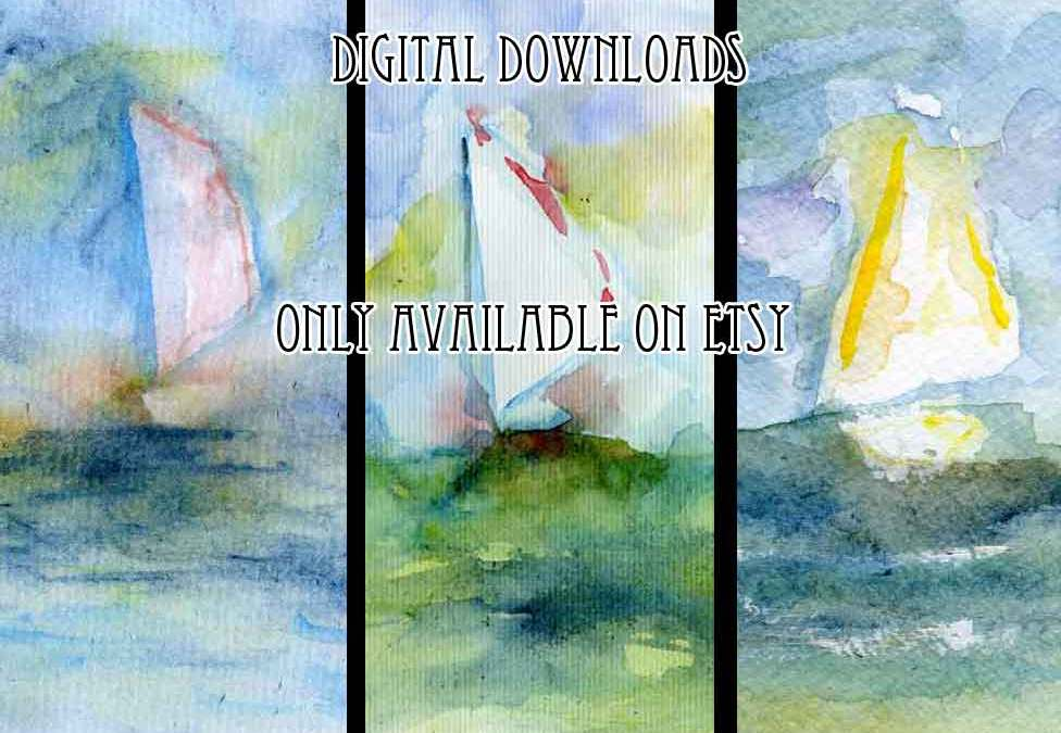 Digital download & discount code // Seascapes and boats