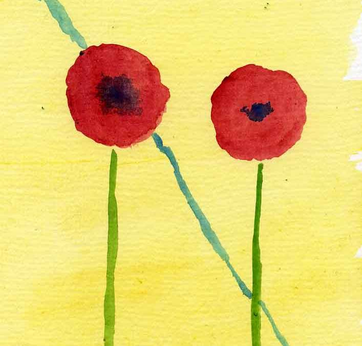 Two poppies – Daily painting #1274