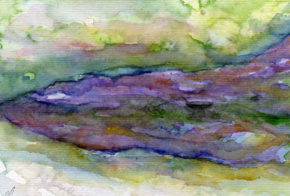 Abstract lake landscape (#278)