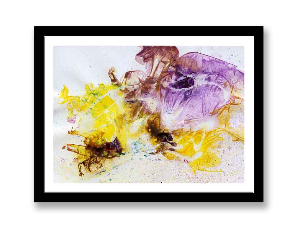 Yellow and purple painting (#1360)