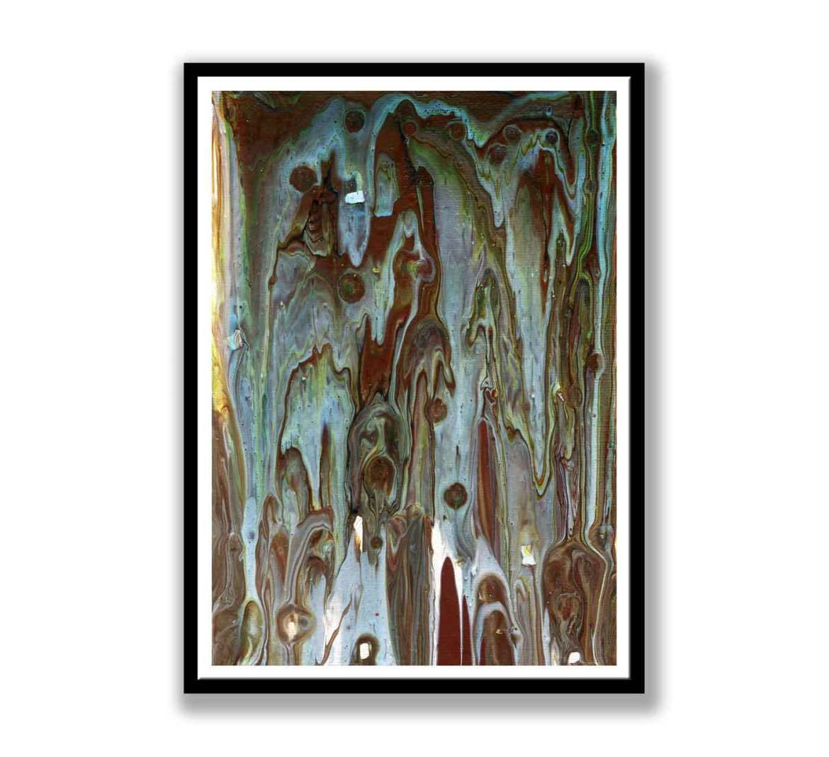 Blue and brown abstract – print for sale (#1379)