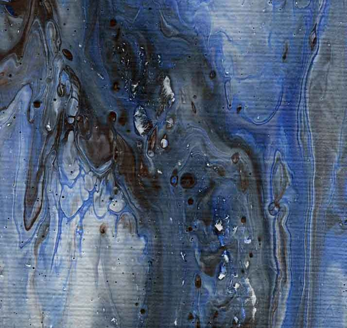 Blue and white abstract (#1382)
