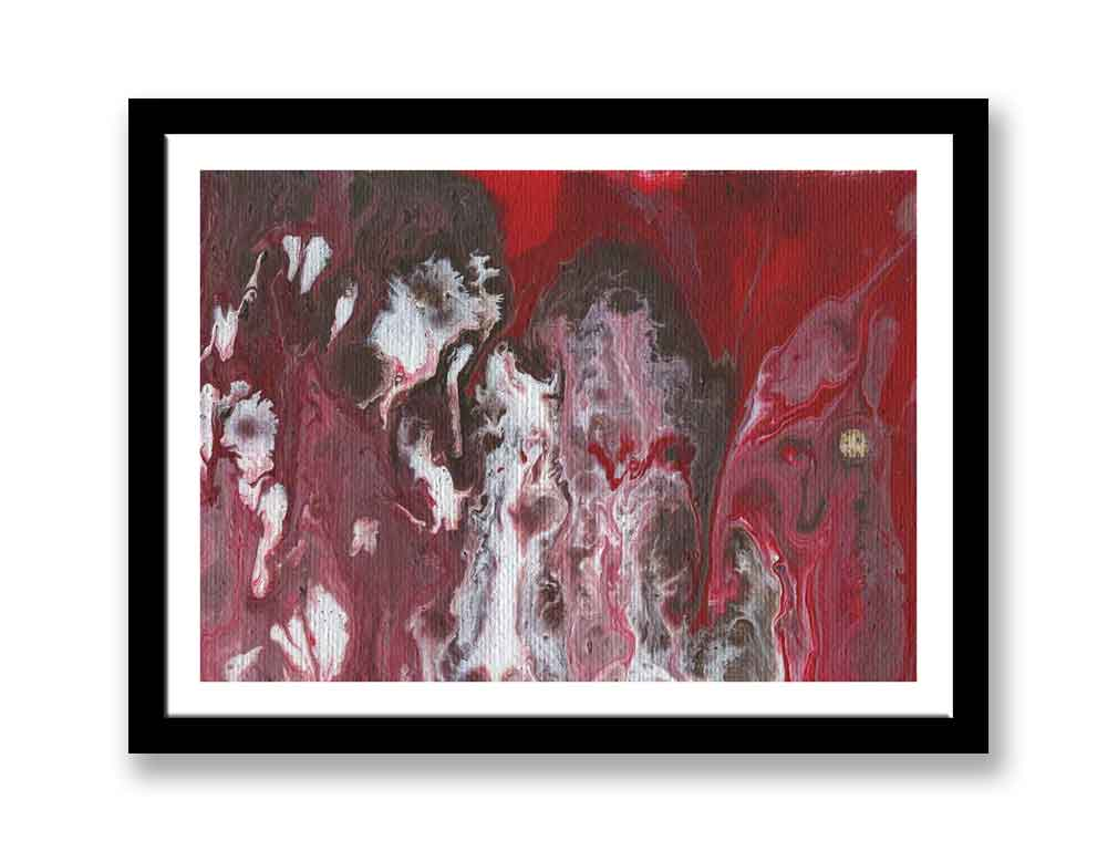 Red and white abstract – Print for sale (#1384)