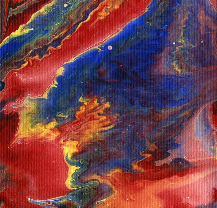 Red Sky Abstract (#1422)