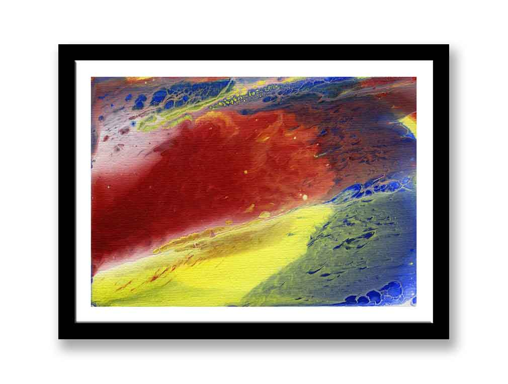 Red, blue and yellow abstract (#1423)