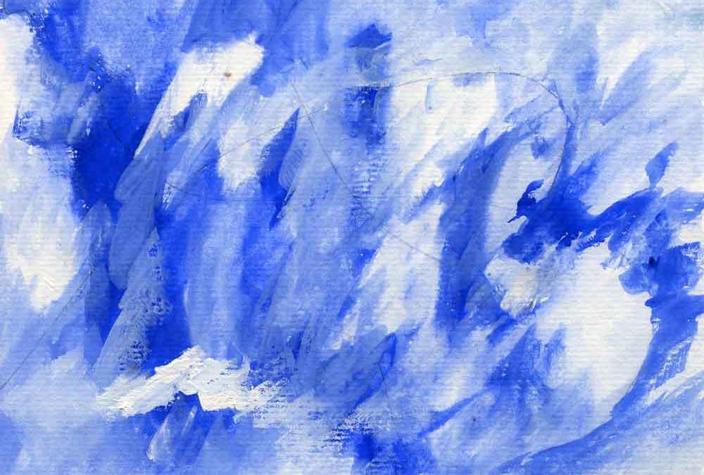 Blue and white abstract (#1443)