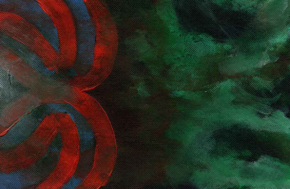 Green, red and black abstract (#1512)