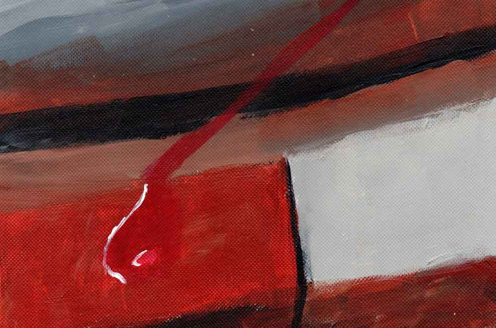 Brown, black, red and white abstract (#1514)