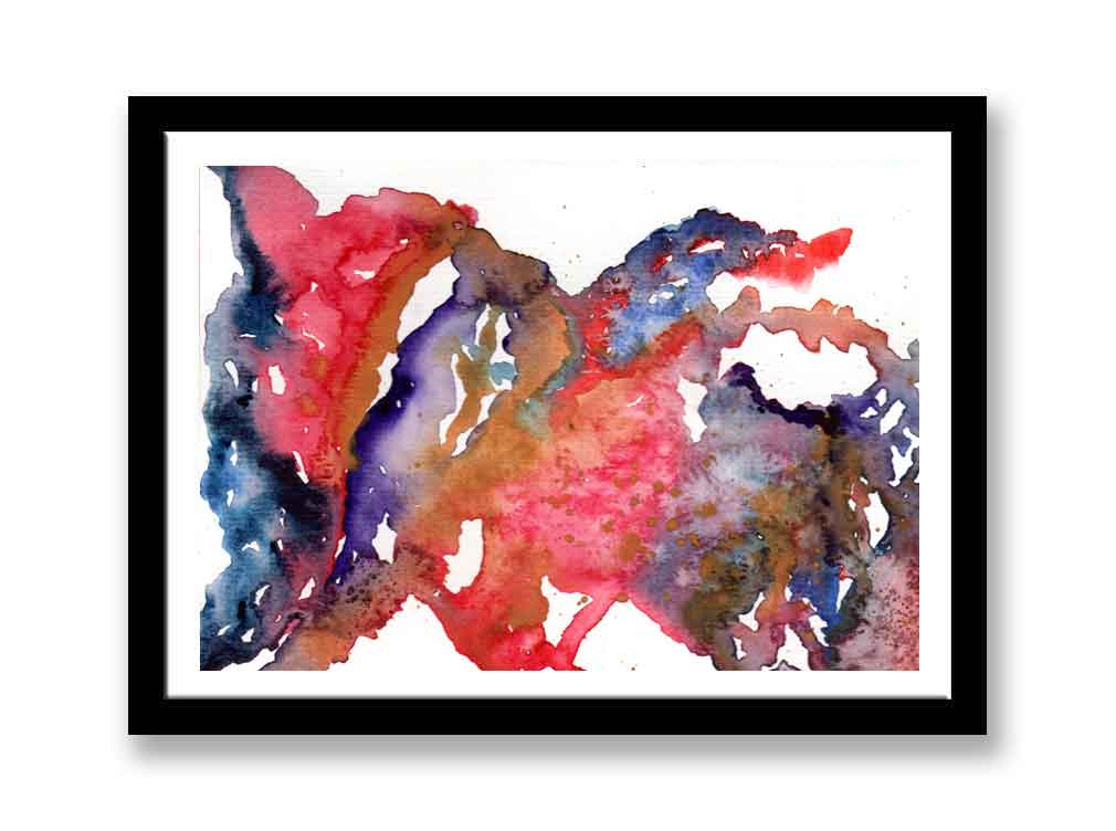 Red, blue and purple watercolour abstract (#1537)