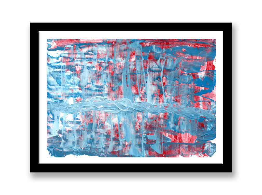 Blue and red acrylic abstract (#1539)