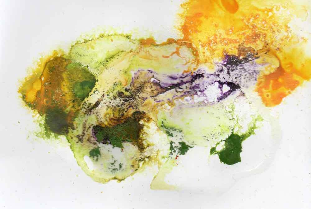 Yellow,purple and green abstract (#1540)