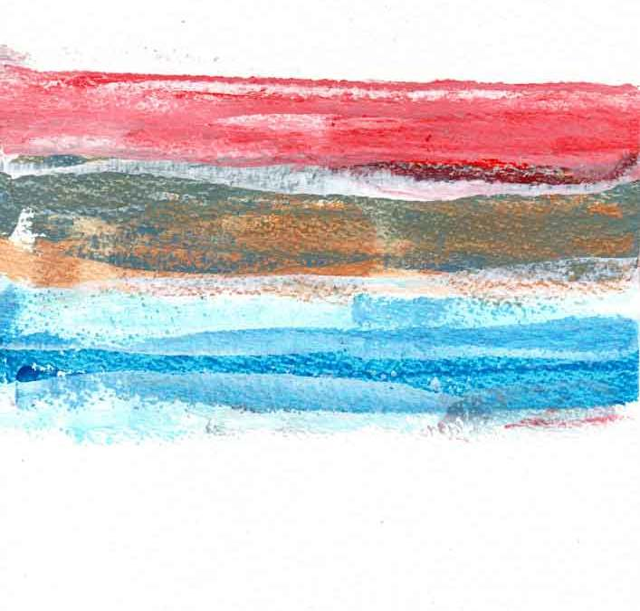 Red, Brown and blue lines Abstract (#1548)