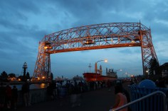 Duluth Aerial Lift Bridge Ship Passing