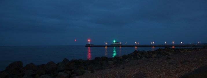 Duluth Harbor Lighthouse Moonrise
