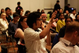 16 Jan - Audience raising questions during post show, FCP 2013 Opening Night, 72-13, Singapore
