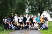 18 Jan - A Touristy Group Photo, FCP 2013 Day 3, Pulau Semakau Landfill, Singapore