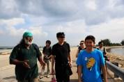 18 Jan - Subaraj guides us along the walking path, FCP 2013 Day 3, Pulau Semakau Landfill, Singapore