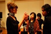 19 Jan, Sound Artist Kaffe Matthews engaging audiences after her performance , FCP SUPERINTENSE Day 4, 72-13, Singapore
