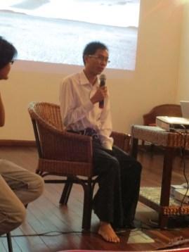8 Jan - Sithu Zeya speaks, French Institute, Yangon, Myanmar