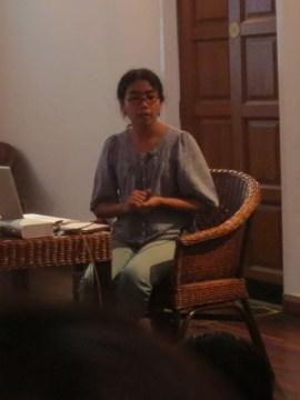 8 Jan - Wai Mar Nyunt speaks, French Institute, Yangon, Myanmar