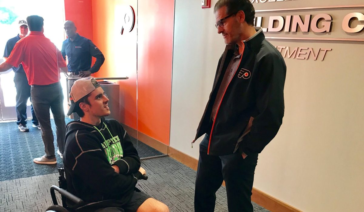 Flyers inspired by visit from Humboldt crash survivor