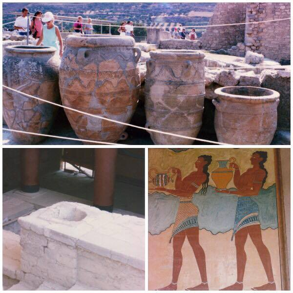 Ancient Greek pottery, a bathroom and paintings