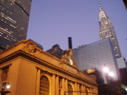 Grand Central Station and The Chrysler building.