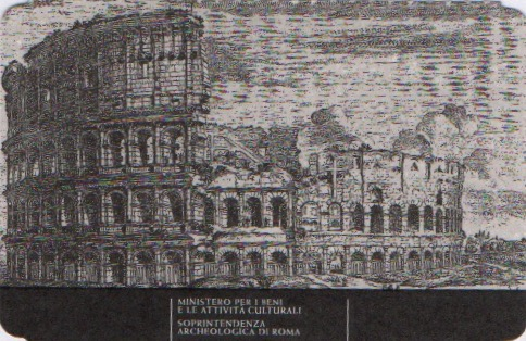 A black and white drawing of the Colosseum in Rome, Italy