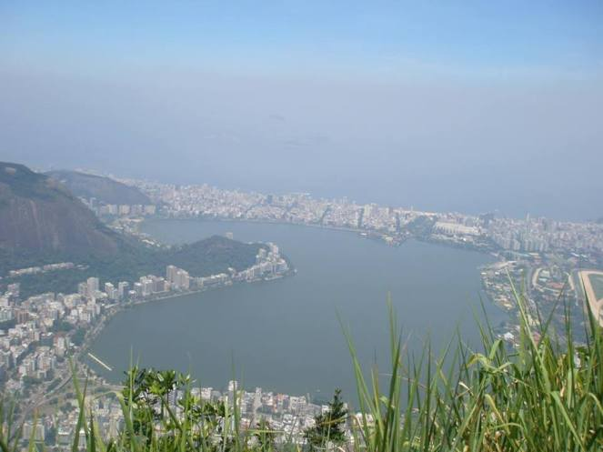 A hazy photo of Guanabara Bay, Rio de Janeiro