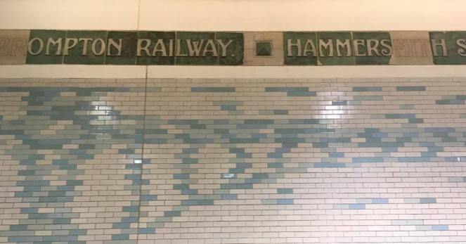Hammermsith Underground Station Wall