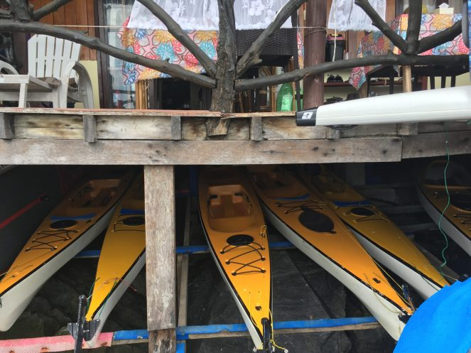 El Gordo's kayaks