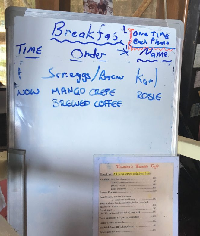The breakfast board