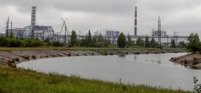Chernobyl Power Plant and River