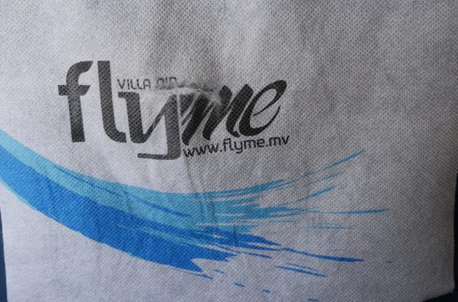 Flyme headrest cover in ATR 72-500 plane