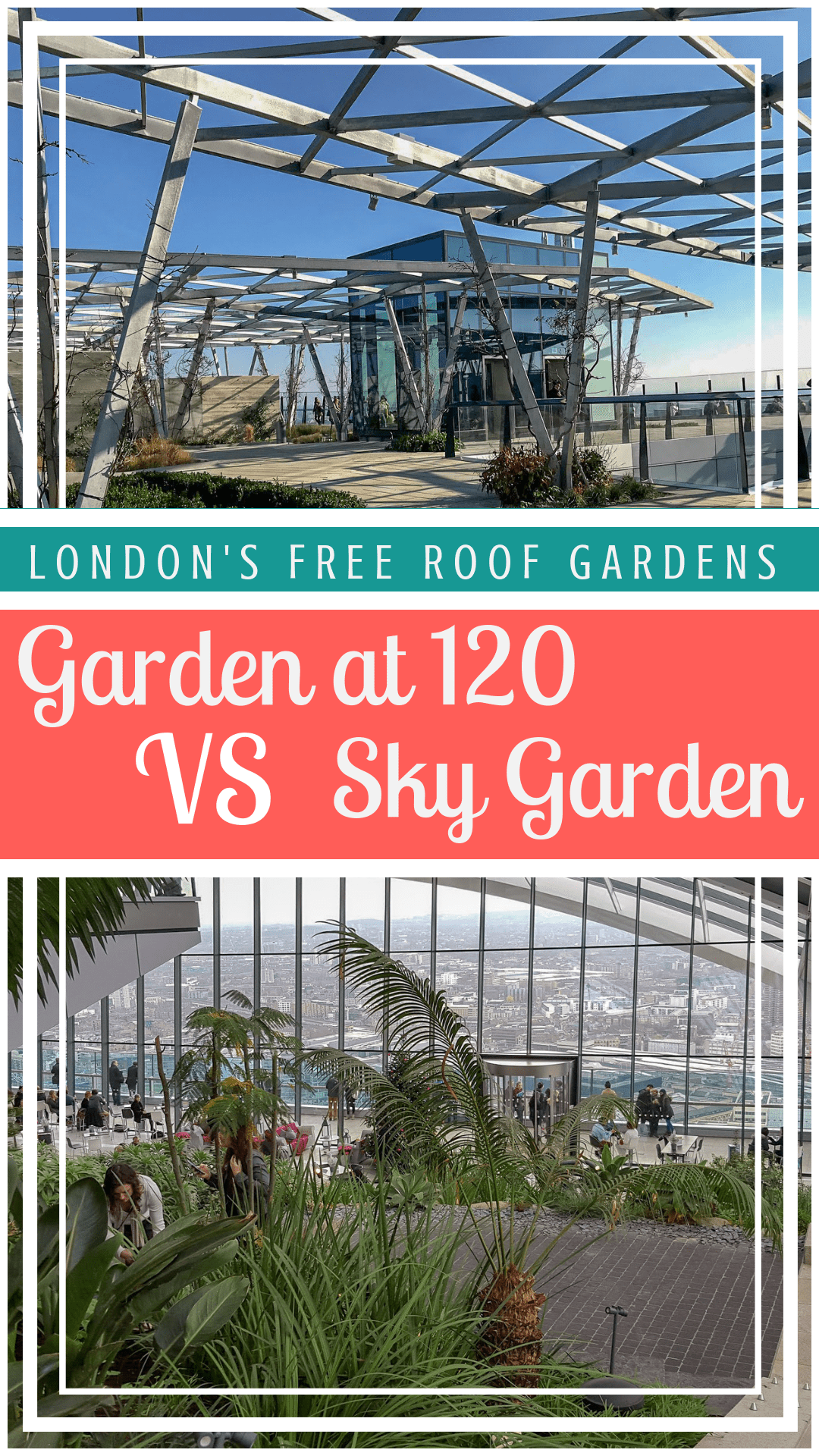 If you are visiting London and want to check out one of London's free roof gardens, should you visit Garden at 120 or Sky Garden on Fenchurch Street. #londonrooftop #londonfreerooftop #gardenat120 #skygarden #skygardenlondon