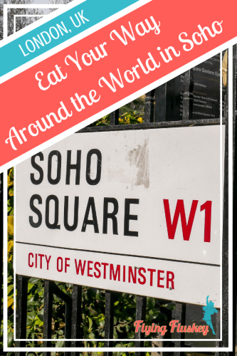 One of the things that has long made London's Soho an interesting place, is the amazing range of food options.You can eat your way around the world in Soho! #soholondon #londonfood #sohofood #londonfoodie