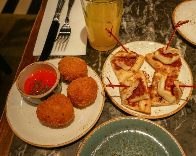 Greek mezze dishes at Suvlaki, Soho, London