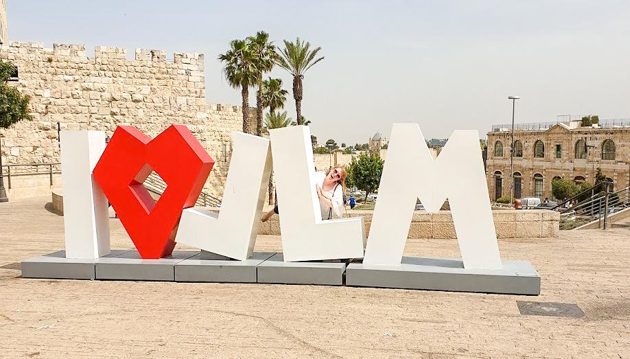 I love JLM sculpture by Yarel Yair in Jerusalem