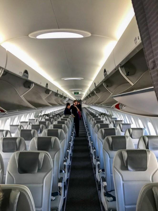 airBaltic A220-300 economy cabin