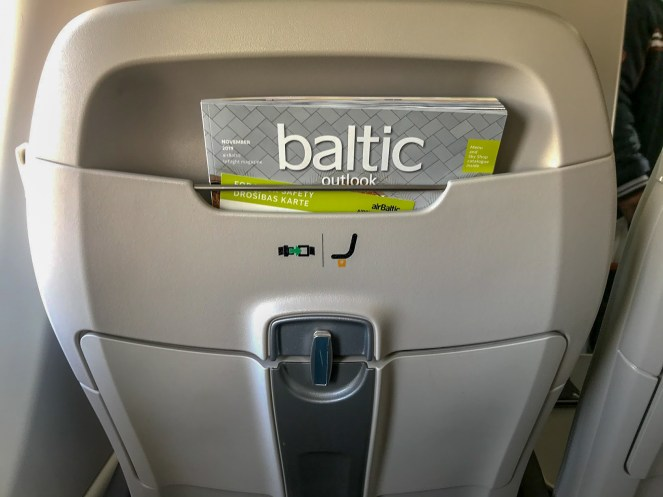 airBaltic A220-300 business class seat