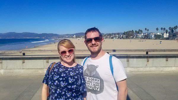 Mr & Mrs Fluskey on our Venice Beach Secret Food Tour, Los Angeles