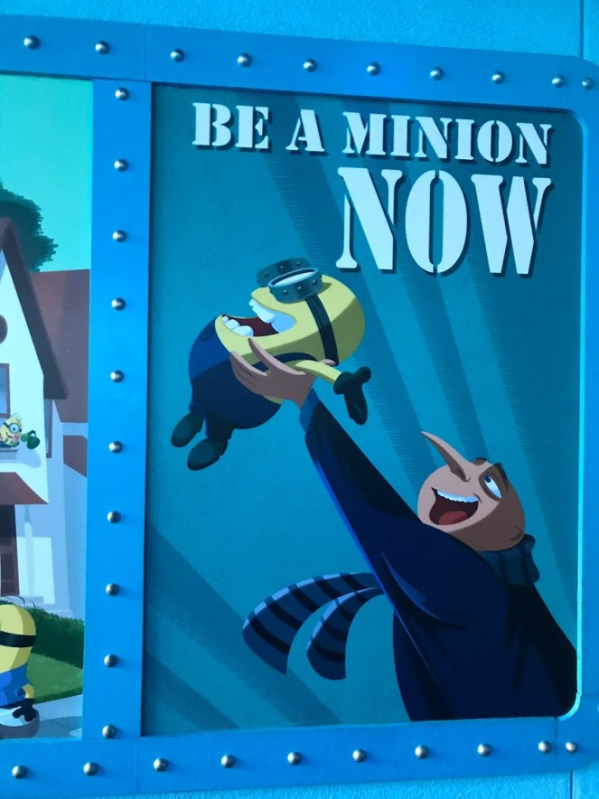 A sign that says be a minion now