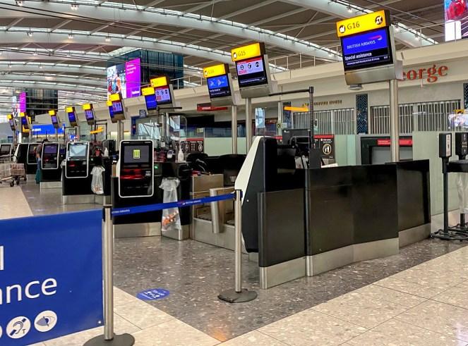 London Heathrow Terminal 5 British Airways check in desks