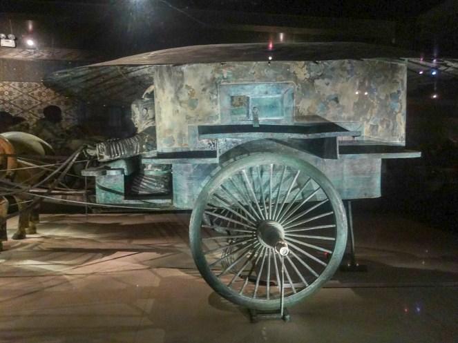 Bronze chariot number 2 of the Qin Bonze Chariots at Emperor Qinshihuang's Mausoleum, Xian, China