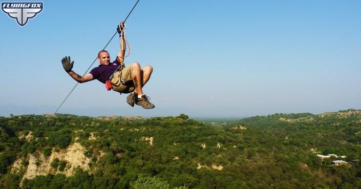 Flying Fox, Flying Fox Kikar, Kikar Lodge, Punjab, zip lines, zip line tour, longest zip line tour in South Asia, adventure activities near chandigarh