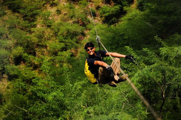 Flying Fox Kikar, ziplining in kikar, Flying Fox Asia