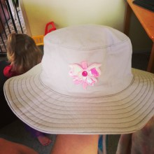 Decorating a new hat!
