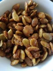 Candied Salted Caramel Pumpkin Seeds