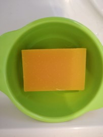 All natural soap - Carrot and Orange Cake