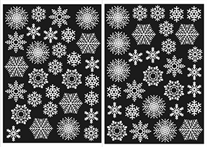 Sixty Festive Snowflake Window Clings Christmas & Winter Stickers – Reusable Decorations